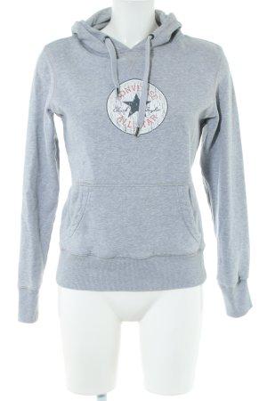 Converse Kapuzensweatshirt hellgrau meliert schlichter Stil