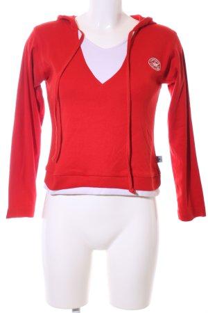 Converse Kapuzensweatshirt rot-weiß Casual-Look