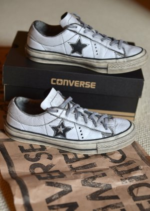 CONVERSE limited Edition usedlook 37,5 Leder OVP Leder Sneakers Chuks