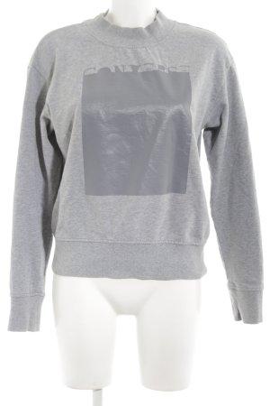 Converse Kraagloze sweater lichtgrijs gedrukte letters casual uitstraling