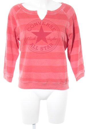 Converse Kraagloze sweater lichtrood-rood atletische stijl