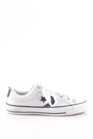 Converse Schnürschuhe weiß-blau Casual-Look