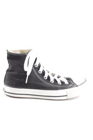 Converse Schnürschuhe schwarz-weiß sportlicher Stil
