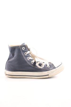 Converse Schnürschuhe blau-weiß Casual-Look