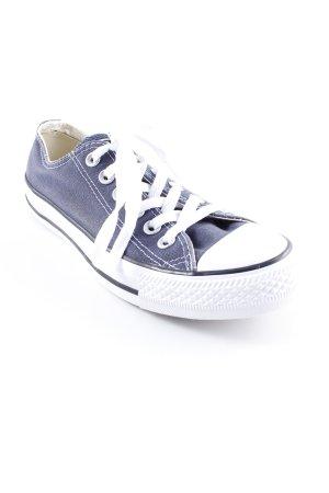 Converse Chaussures à lacets bleu foncé style décontracté