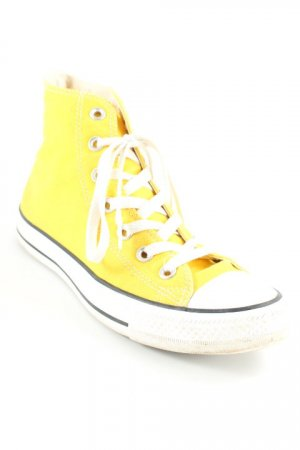 Converse Schnürschuhe gelb-weiß 80ies-Stil