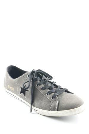 Converse Schnürschuhe grau-schwarz Schriftzug gedruckt Casual-Look