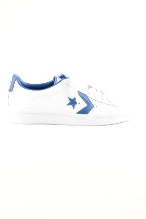 Converse Schnürsneaker weiß-blau Casual-Look