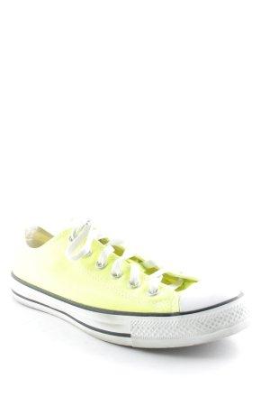 Converse Schnürsneaker neongrün-weiß extravaganter Stil