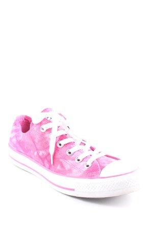 Converse Schnürsneaker pink-weiß Batikmuster Casual-Look
