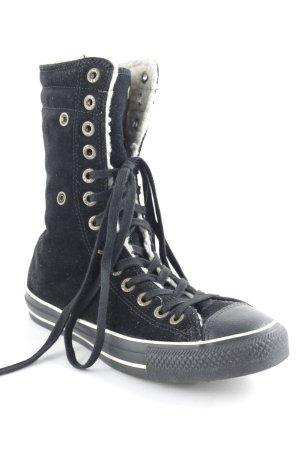 Converse Schnürsneaker schwarz-creme sportlicher Stil
