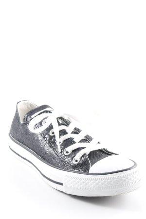 Converse Basket à lacet noir-blanc pailleté