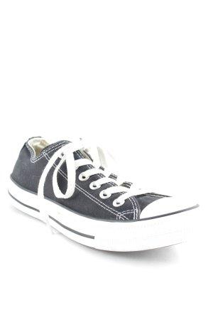 Converse Schnürsneaker schwarz-weiß sportlicher Stil