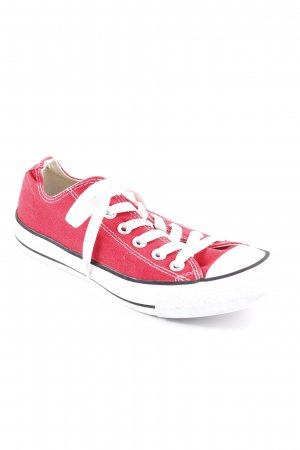 Converse Schnürsneaker weiß-rot Casual-Look