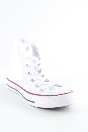 Converse Basket à lacet blanc-rouge article unisexe