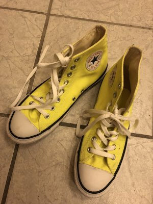 Converse High Top Sneaker neon yellow