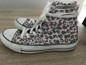 Converse Schuhe Rosa -Grau mit Leomuster Gr 37,5