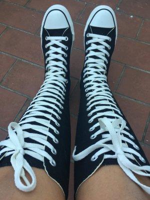 Converse, schwarz, hoch, Schuhe,