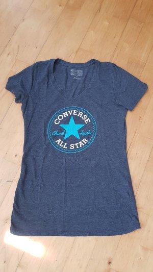 Converse T-shirt blauw