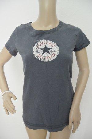 Converse T-shirt antraciet-leigrijs