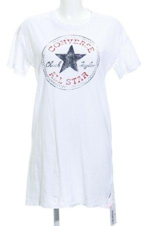 Converse Shirtkleid weiß platzierter Druck Casual-Look