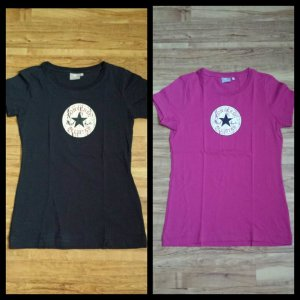 Converse Shirts 2er Set dunkelblau pink