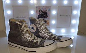 Converse Zapatillas altas color plata