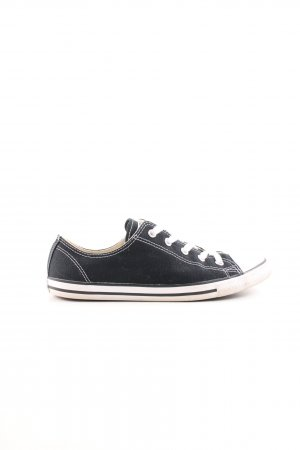 Converse Skater Shoes black-white striped pattern casual look
