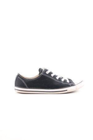 Converse Skaterschuhe schwarz-weiß Streifenmuster Casual-Look