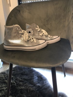 Converse Sneaker All Star in Silber metallic