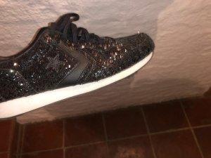 Converse Sneaker mit schwarzem Glitzer Gr. 40