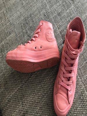 Converse Sneakers Turnschuhe Sneaker Chucks Vollleder rosa