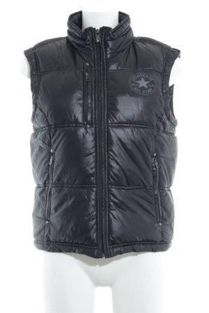 Converse Gewatteerd vest zwart casual uitstraling
