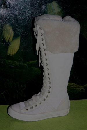 Converse Stiefel Leder 36 Lammfell creme