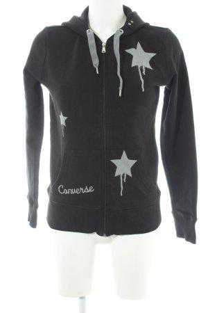 Converse Sweatjacke schwarz-hellgrau Sternenmuster Casual-Look