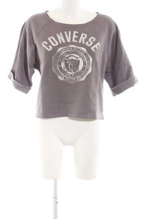 Converse Sweatshirt braun-wollweiß Motivdruck Casual-Look