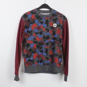 CONVERSE Sweatshirt Gr. S rot grau blau gemustert (18/9/532)
