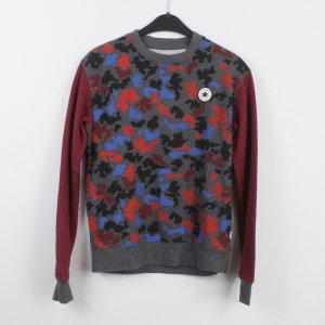 CONVERSE Sweatshirt Gr. S rot grau blau gemustert (18/9/532/K)
