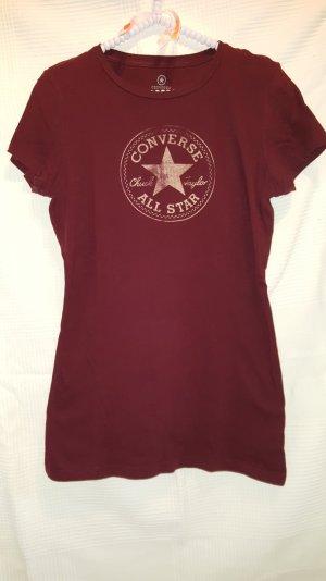 Converse T-Shirt Bordeauxrot