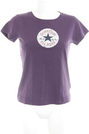 Converse T-shirt bruin-paars geplaatste afdruk casual uitstraling