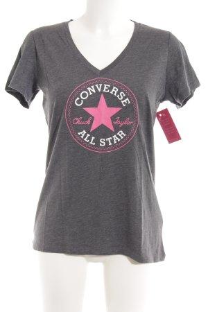 Converse T-shirt donkergrijs gestippeld atletische stijl