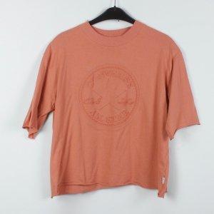 Converse T-Shirt Gr. S apricot Logo-Prägung (19/04/091)