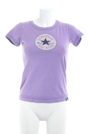 Converse T-Shirt lila sportlicher Stil