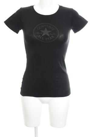 Converse T-Shirt schwarz Casual-Look