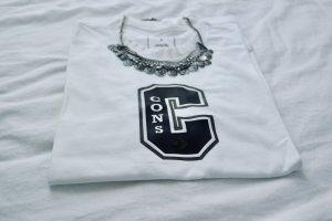 Converse T-shirt wit-zwart