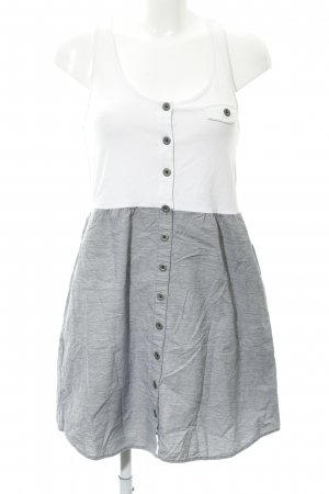 Converse Trägerkleid weiß-dunkelblau meliert Casual-Look