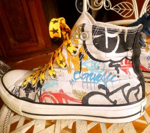 Converse Turnschuhe Sneaker 37,5 Graffiti