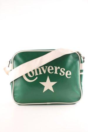 Converse Umhängetasche grün-wollweiß Schriftzug gedruckt Casual-Look