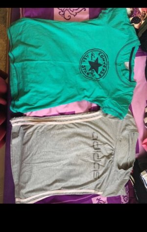 Adidas Camiseta color plata-turquesa