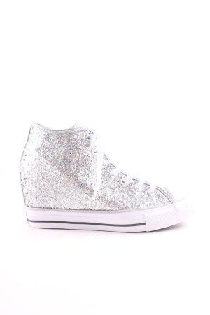 Converse Wedge Sneaker silberfarben-weiß Casual-Look